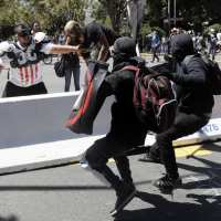 Chaos Returns to Berkeley as Black-Clad Antifa Attacks Peaceful Protestors.