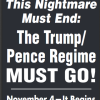 "Antifa Calls for Mass Actions to ""Drive Out Trump/Pence Regime!"""